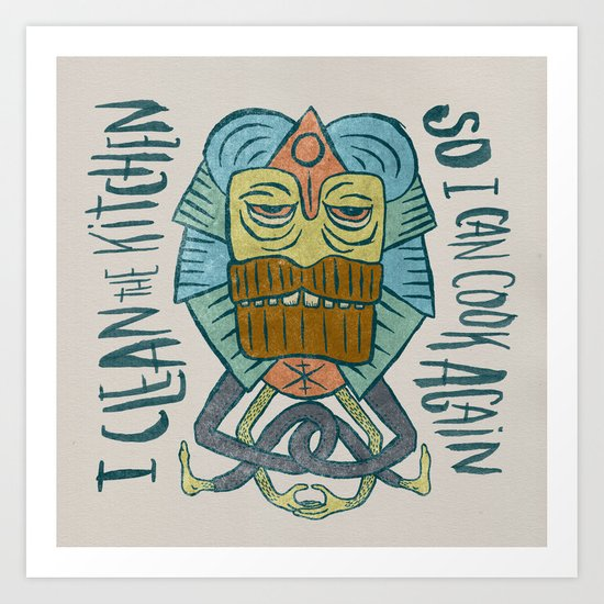 Kitchen Art Lafayette: CLEAN THE KITCHEN Art Print By Josh LaFayette