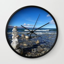 Heavenly Lake Namtso Tibet Wall Clock