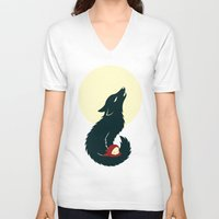 red hood V-neck T-shirts featuring Little Red Riding Hood by Freeminds