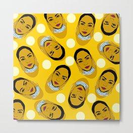 Yellow Ms. Adu Pattern Lover's Rock Metal Print