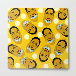 Yellow Ms. Adu Pattern Lover's Rock Metal Print