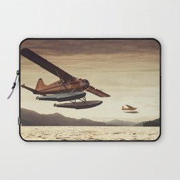 Flying in the Sunset Laptop Sleeve