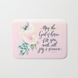 Joy and Peace Tote Bath Mat