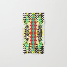 Tribal Beat Geo Neon Hand & Bath Towel