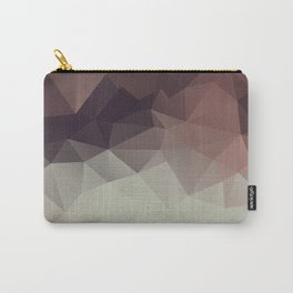 Gray brown abstract polygonal pattern triangles . Carry-All Pouch
