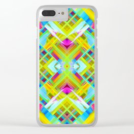 Colorful digital art splashing G471 Clear iPhone Case