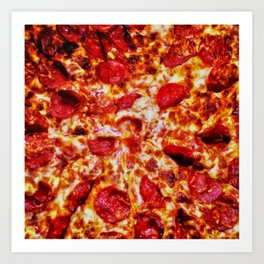 Pizza Painting Art Print