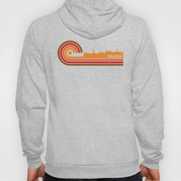 Retro Style Burlington Vermont Skyline Hoody