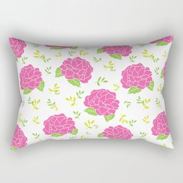 Blooming Camellias Rectangular Pillow