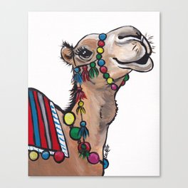 Cute Camel Art, Camel with Tassels Canvas Print