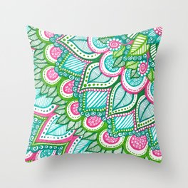 Sharpie Doodle 8 Throw Pillow