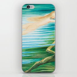 The Mermaid and the Water Spirit ocean landscape painting by Nils Dardel iPhone Skin