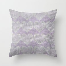 Heart Fabric Throw Pillow