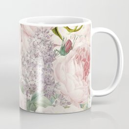 Vintage Roses and Lilacs Pattern - Smelling Dreams Coffee Mug