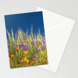 California Wildflowers natural pattern 4 Stationery Cards