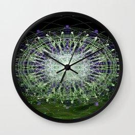 Watery Orbitals Mandala 1 Wall Clock