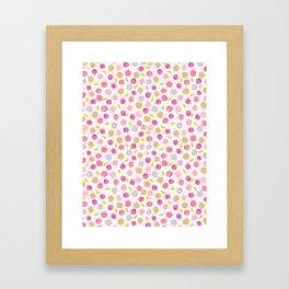 Colorful Summery Flowers Framed Art Print