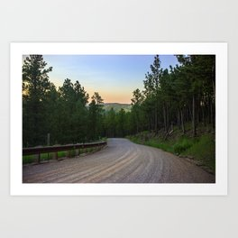 Dirt Road in the Black Hills Art Print