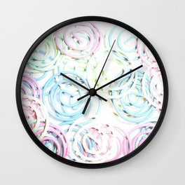 Flashy Paper Clips Wall Clock