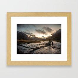 Broken Bridge Valley Dusk Framed Art Print