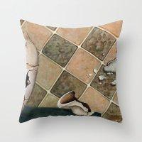 broken Throw Pillows featuring broken by Andreas Derebucha