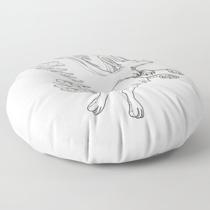 Skvader Flying Doodle Floor Pillow