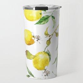 Watercolor lemons 8 Travel Mug