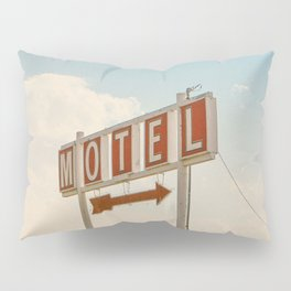 ABANDONED DESERT MOTEL Pillow Sham