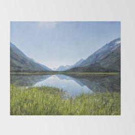 Alaska Summer Light on Tern Lake Throw Blanket