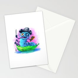 pirate worm Stationery Cards