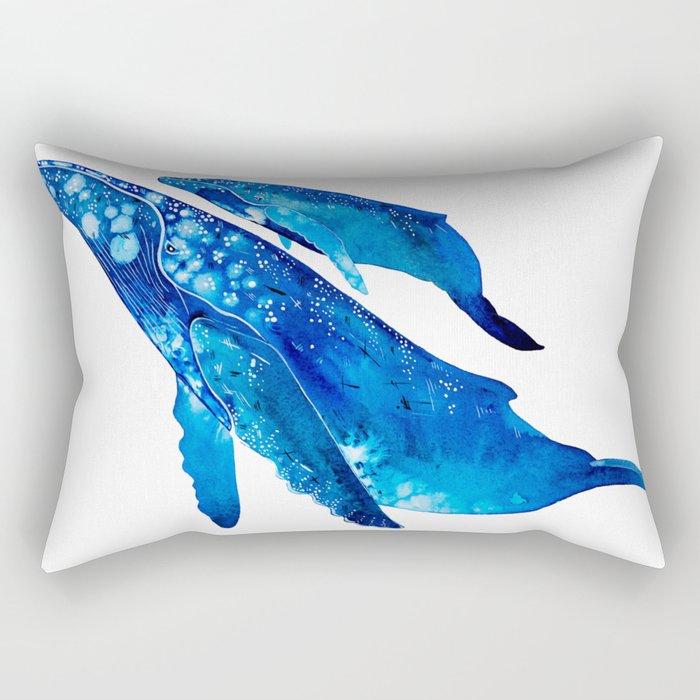 Humpback Whale Mother and Calf Rectangular Pillow