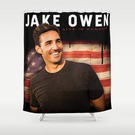 jake owen usa tour 2019 nontongame Shower Curtain