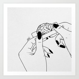 Rolling your mind. Art Print