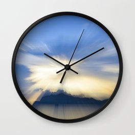 Evanescent 4 (Blue and Gold) Wall Clock