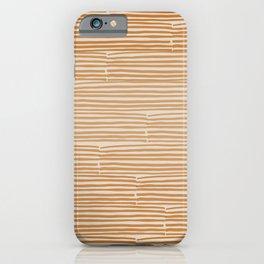 hand drawn light lines –rust iPhone Case