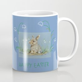 Spring Rabbit & Happy Easter quote Coffee Mug