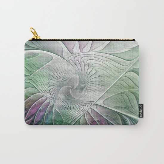 Colorful Fantasy Flower, Abstract Fractal Art Carry-All Pouch