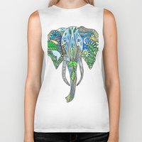 tatoo Biker Tanks featuring Tatoo Elephant by PepperDsArt