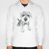 schnauzer Hoodies featuring Schnozz the Schnauzer by Beth Thompson