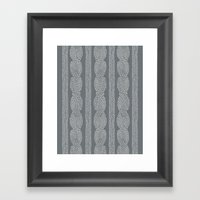 Cable Greys Framed Art Print