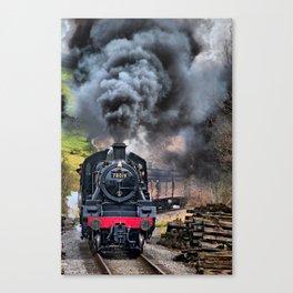 78019 Steam Train Canvas Print