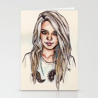 sky ferreira Stationery Cards featuring Sky Ferreira by vooce & kat