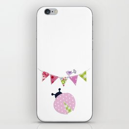Ladybug with party flags iPhone Skin