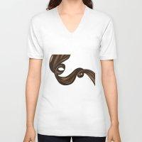 rapunzel V-neck T-shirts featuring Rapunzel by giulya