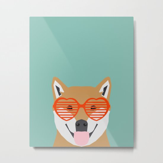 Shiba Inu Love - Gifts for pet owners dog person gifts shiba inu gifts customizable dog gifts cute Metal Print