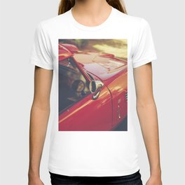 Red supercar photography, Triumph spitfire, original english car, classic sports auto T-shirt
