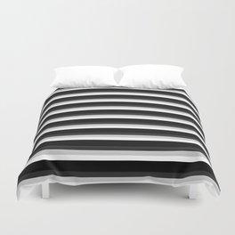 Stripes Black Gray & White Ombre Duvet Cover