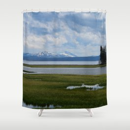 Pelican Creek - Yellowstone Lake Shower Curtain