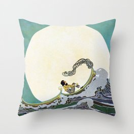 She Tied My Boat to the North Sta - by  Dugald Stewart Walker  Throw Pillow