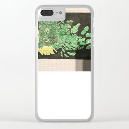 Uil met maanlicht Clear iPhone Case